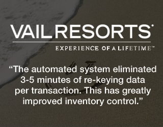 Vail Resorts - The automated system eliminated 3-5 minutes of re-keying data per transaction. This gas greatly improved inventory control