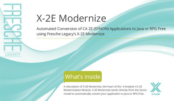 X-2E Modernize