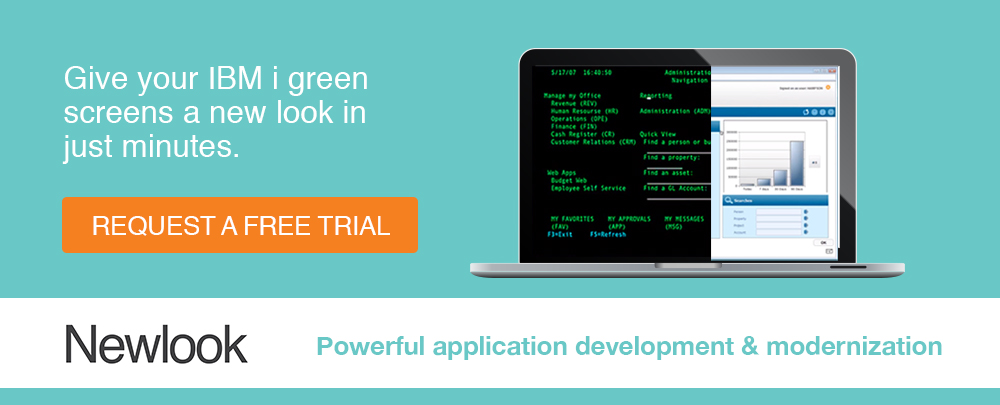 Give your IBM i green screens a new look in just minutes. Request a free trial