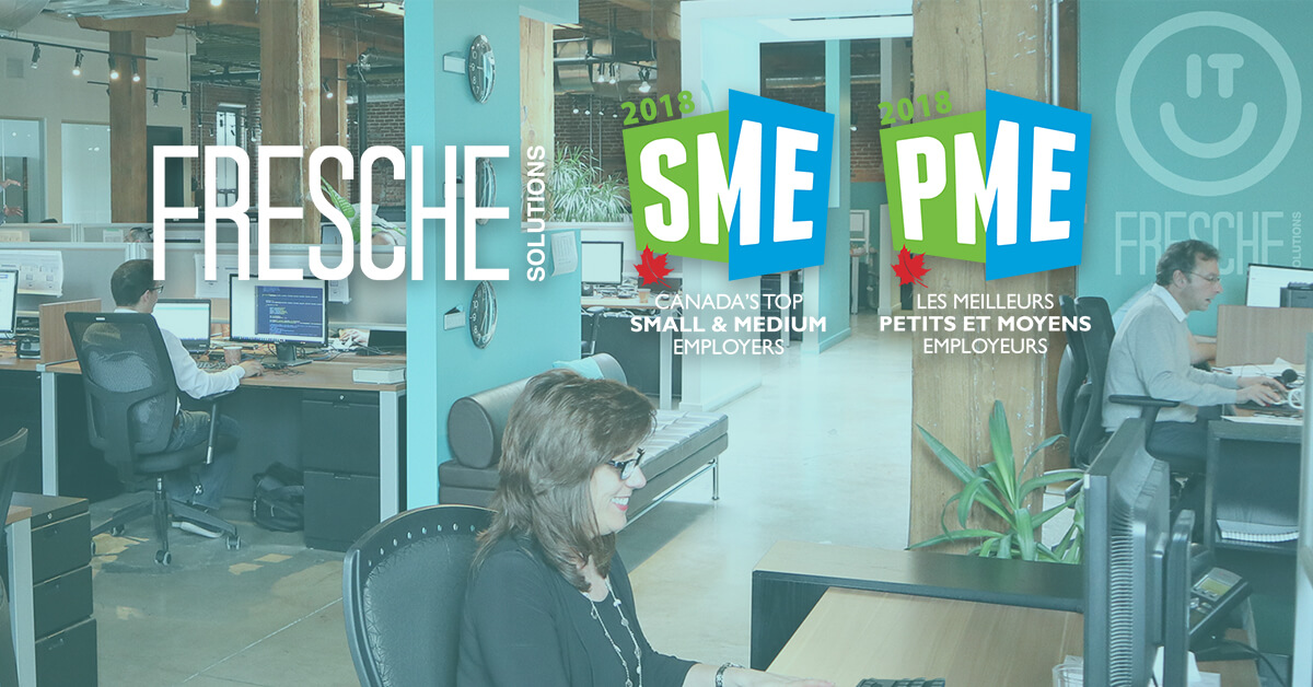 Fresche Solutions Named One of Canada's Top Small & Medium Employers For 2018
