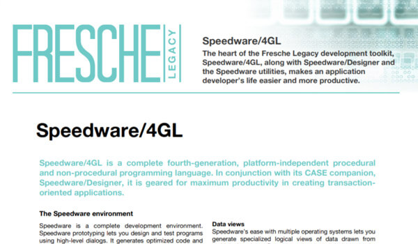 Speedware 4gl